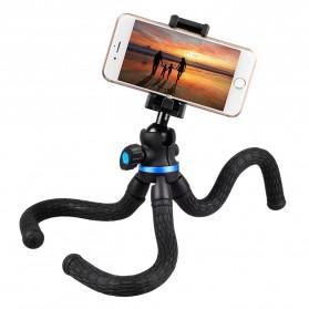 APEXEL Mini Tripod Flexible with 1/4 Universal Smartphone Clip - APL-JJ05 - Black - 3