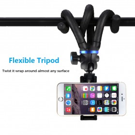APEXEL Mini Tripod Flexible with 1/4 Universal Smartphone Clip - APL-JJ05 - Black - 5
