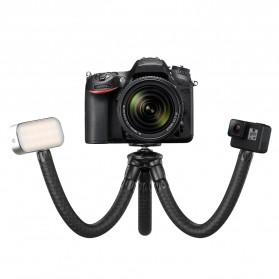 APEXEL Multifunction Mini Tripod Flexible with 1/4 Universal Smartphone Clip DSLR - APL-JJ07 - Black - 3
