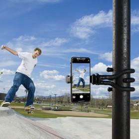 APEXEL Multifunction Mini Tripod Flexible with 1/4 Universal Smartphone Clip DSLR - APL-JJ07 - Black - 4
