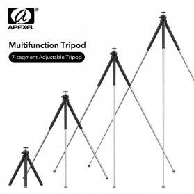 Professional DSLR Tripod - APEXEL Detachable Extendable Flexible Tripod 360 Rotation 1/4 Screw - APL-JJ09 - Black