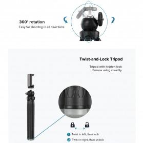 APEXEL Detachable Extendable Flexible Tripod 360 Rotation 1/4 Screw - APL-JJ09 - Black - 5
