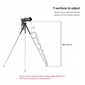 APEXEL Detachable Extendable Flexible Tripod 360 Rotation 1/4 Screw - APL-JJ09 - Black - 7