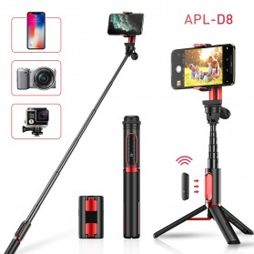 APEXEL Tongsis Gimbal Stabilizer Tripod Smartphone with Remote - APL-D8 - Black - 3
