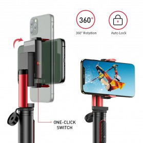 APEXEL Tongsis Gimbal Stabilizer Tripod Smartphone with Remote - APL-D8 - Black - 4