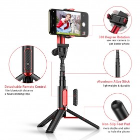 APEXEL Tongsis Gimbal Stabilizer Tripod Smartphone with Remote - APL-D8 - Black - 6
