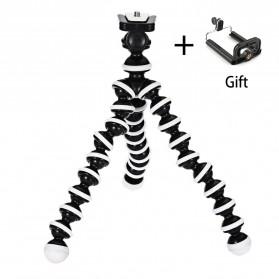 Jumpflash Flexible Octopus Tripod with Smartphone Holder - XTK75 - Black