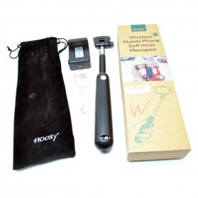Noosy Tongsis Wireless Self Timer Monopod for iOS and Android - BR04 - Black