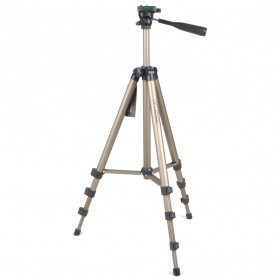 Weifeng Portable Lightweight Tripod Stand 4-Section Aluminium Legs with Brace - WT-3130 - Chocolate