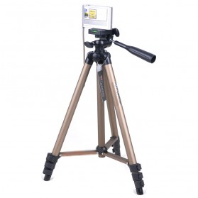 Weifeng Portable Lightweight Tripod Stand 4-Section Aluminium Legs with Brace - WT-3130 - Chocolate - 2