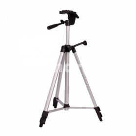 Weifeng Portable Lightweight Tripod Stand 3-Section Aluminium Legs - WT-330A - Silver Black