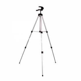Weifeng Portable Lightweight Tripod Stand 3-Section Aluminium Legs - WT-330A - Silver Black - 2