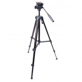 Weifeng Portable Lightweight Tripod Video & Camera with 3-Way Head - WT-3950 - Black