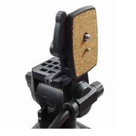 Weifeng Portable Lightweight Tripod Video & Camera with 3-Way Head - WT-3950 - Black - 3