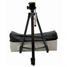Weifeng Portable Lightweight Tripod Video & Camera with 3-Way Head - WT-3950 - Black - 8