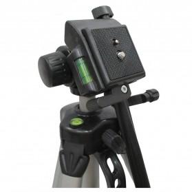 Weifeng Aluminium Tripod Photo & Video With 3-Way Head - W-350 - Black - 2