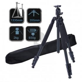 Weifeng Portable Lightweight Tripod Video & Camera - WF-3642B - Black - 2