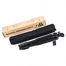 Weifeng Portable Lightweight Tripod Video & Camera - WF-3642B - Black - 7