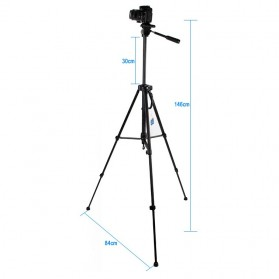 Weifeng Portable Lightweight Tripod Video & Camera - WT-3530 - Black - 2