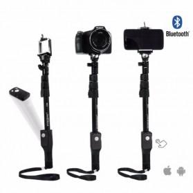 Yunteng Tongsis Wireless Bluetooth Monopod - YT-1288 (Replika 1:1) - Black - 9