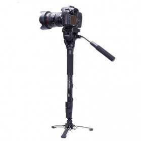 Yunteng Monopod Unipod Pan Head for DSLR - VCT-288 - Black
