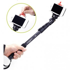 Yunteng Extendable 4 Sections Handheld Monopod with Universal Clamp - YT-188 - Black