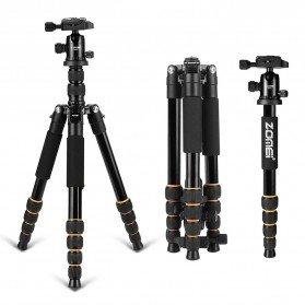 Zomei Profesional Tripod Photo & Video With Ball Head - Q666 - Black