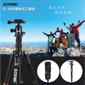 Zomei Profesional Tripod Photo & Video With Ball Head - Q666 - Black - 7