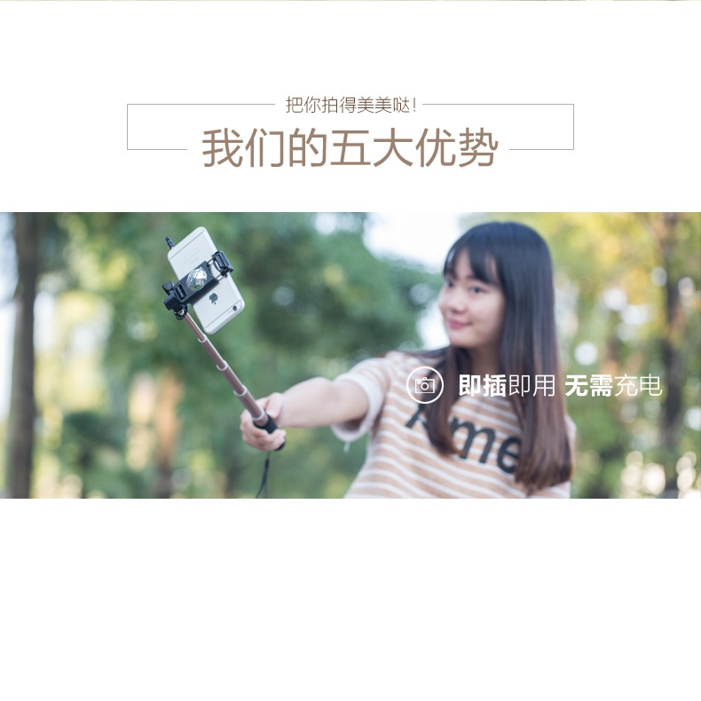 remax wired selfie stick tongsis p5 silver. Black Bedroom Furniture Sets. Home Design Ideas