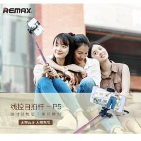 Remax Wired Selfie Stick / Tongsis - P5 - Golden - 2
