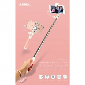 Remax Tongsis Wired Selfie Stick - PP-P6 - Black - 4