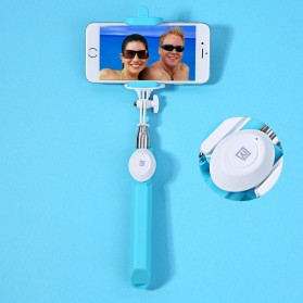 Remax Bluetooth Selfie Stick Tongsis - P3 - Blue - 2