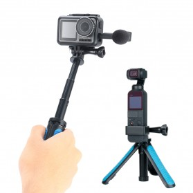 TELESIN Tripod Tongsis Foldable Selfie Pole For DJI Osmo Action - OA-SJJ - Blue - 3