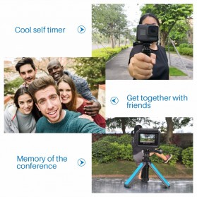 TELESIN Tripod Tongsis Foldable Selfie Pole For DJI Osmo Action - OA-SJJ - Blue - 6