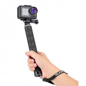 Telesin Tongsis Monopod Foldable Selfie Stick Carbon Fiber 90cm - GP-MNP-90D - Black - 3