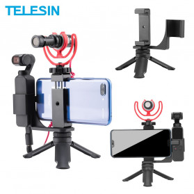 TELESIN Mini Tripod Smartphone Holder for DJI Osmo Pocket - OS-PHS-001 - Black