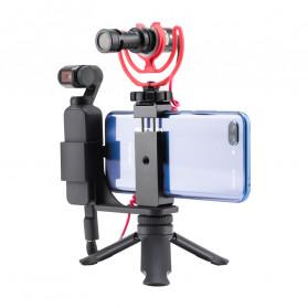 TELESIN Mini Tripod Smartphone Holder for DJI Osmo Pocket - OS-PHS-001 - Black - 2