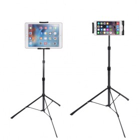 BUBM Portable Stand Tripod Tablet Smartphone 3 Section + Clamp - JY010 - Black