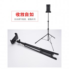 BUBM Portable Stand Tripod Tablet Smartphone 3 Section + Clamp - JY010 - Black - 6