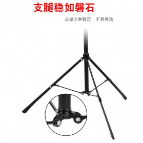 BUBM Portable Stand Tripod Tablet Smartphone 3 Section + Clamp - JY010 - Black - 10