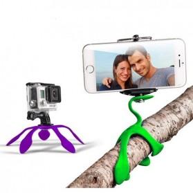 Gekkopod Tripod Kaki Cicak untuk Smartphone Camera GoPro - Black - 4