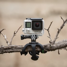 Gekkopod Tripod Kaki Cicak untuk Smartphone Camera GoPro - Black - 6