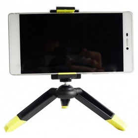 Mini Tripod dengan Smartphone Holder - Black/Yellow