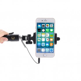 Tongsis Mini Selfie Stick - Black - 7