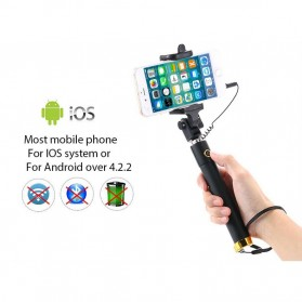 Tongsis Mini Selfie Stick - Black - 8