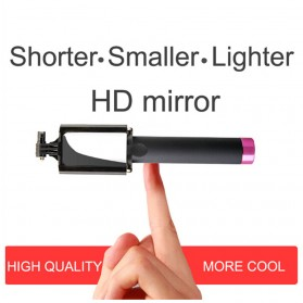 Tongsis Cermin dengan Wired Shutter - Black - 5