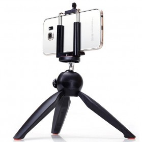 Yunteng Portable Mini Tripod Panoramic Rotation - YT-228 (Replika 1:1) - Black
