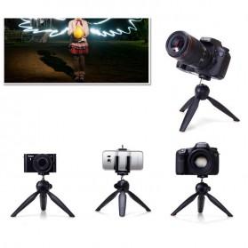 Yunteng Portable Mini Tripod Panoramic Rotation - YT-228 (Replika 1:1) - Black - 3