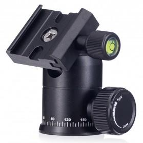 Tripod Ball Head Profesional untuk Kamera DSLR - Black - 2