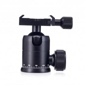 Tripod Ball Head Profesional untuk Kamera DSLR - Black - 3